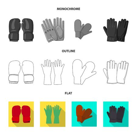 Isolated object of glove and winter . Set of glove and equipment vector icon for stock. Çizim