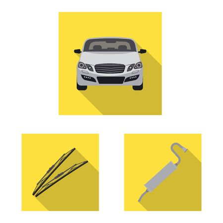 Isolated object of auto and part. Collection of auto and car stock vector illustration.