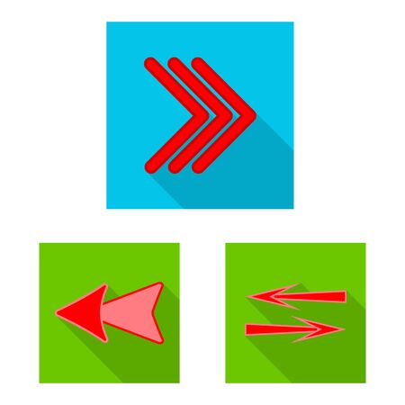 Vector design of element and arrow. Collection of element and direction vector icon for stock. 일러스트