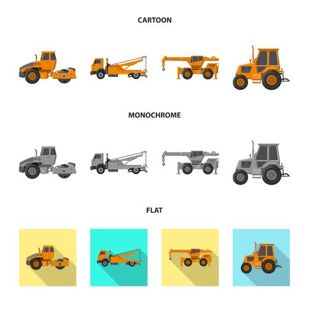 Vector design of build and construction. Set of build and machinery vector icon for stock. Ilustracja