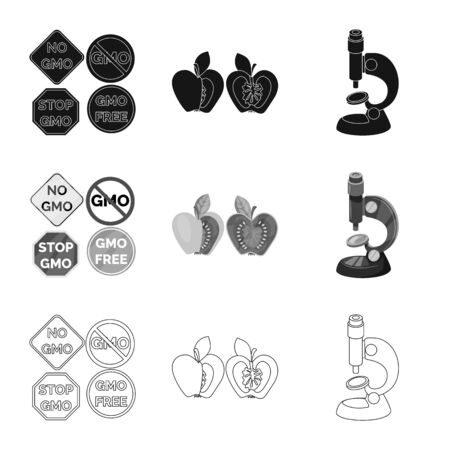 Isolated object of test and synthetic  . Collection of test and laboratory vector icon for stock.