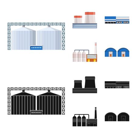 Isolated object of production and structure . Set of production and technology stock symbol for web. Ilustrace