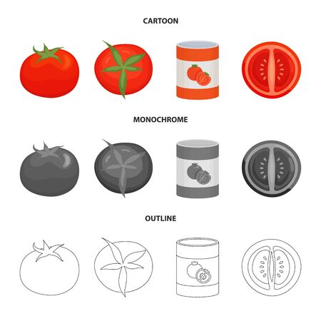 Vector illustration of vegetable and delicious sign. Set of vegetable and natural stock symbol for web.