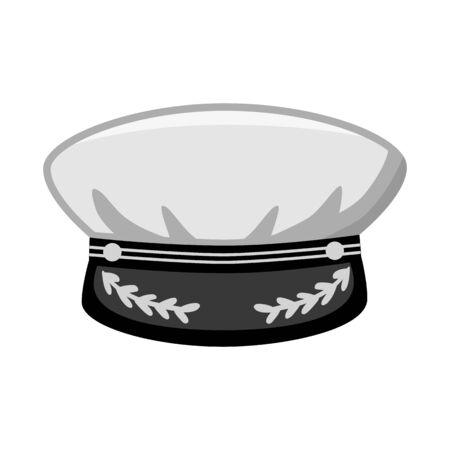 Vector design of cap and marine icon. Collection of cap and captain vector icon for stock.