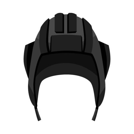 Vector illustration of hat and tank . Collection of hat and warrior stock symbol for web. Ilustração