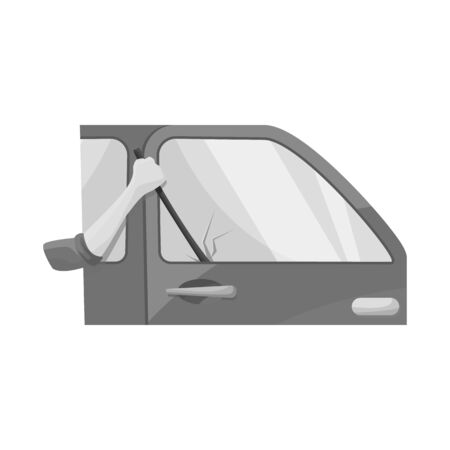 Isolated object of car and theft symbol. Set of car and auto stock symbol for web.