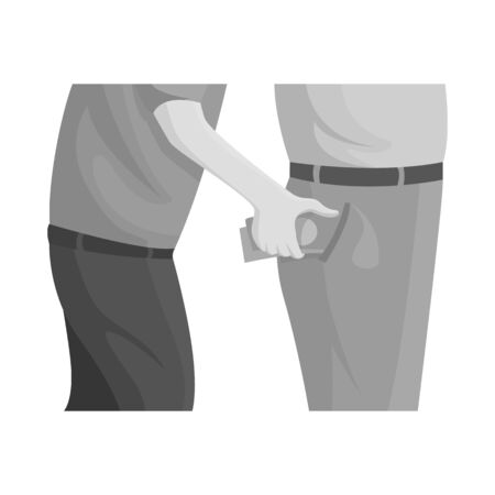 Vector design of pickpocket and theft . Set of pickpocket and money stock symbol for web. Stock Illustratie
