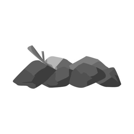 Vector design of bonfire and firewood icon. Set of bonfire and pile stock vector illustration.