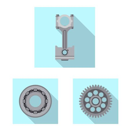 Vector design of auto and part symbol. Set of auto and car vector icon for stock. Иллюстрация