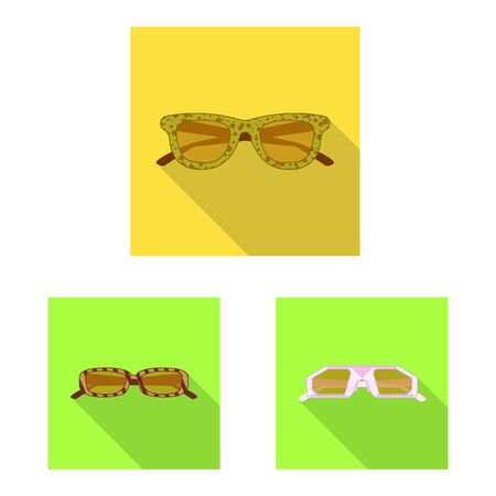 Vector design of glasses and sunglasses icon. Collection of glasses and accessory stock vector illustration.