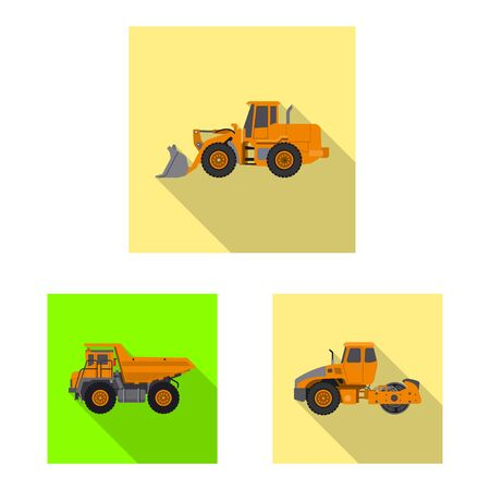 Isolated object of build and construction  . Set of build and machinery stock vector illustration. Stock Illustratie