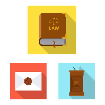 Vector illustration of law and lawyer  . Collection of law and justice stock vector illustration.