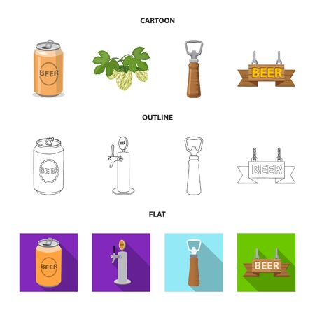 Vector design of pub and bar icon. Set of pub and interior stock vector illustration.
