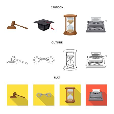 Vector illustration of law and lawyer icon. Set of law and justice vector icon for stock. Standard-Bild - 129876958