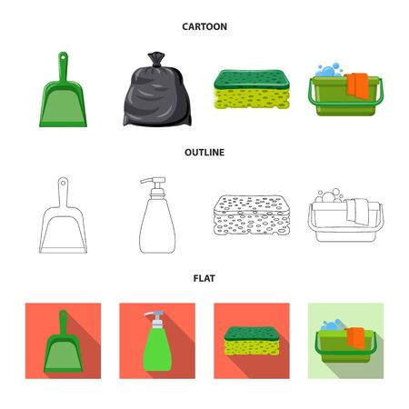 Vector design of cleaning and service symbol. Collection of cleaning and household stock vector illustration.