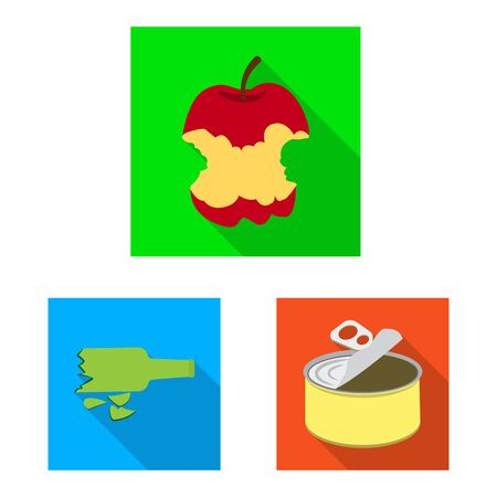 Isolated object of refuse and junk icon. Set of refuse and waste stock symbol for web.