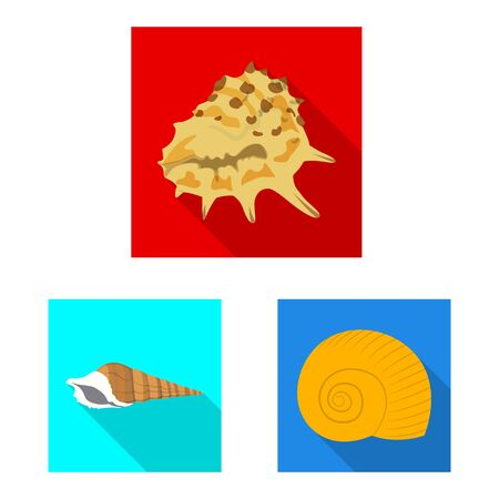 Isolated object of animal and decoration icon. Collection of animal and ocean stock vector illustration.