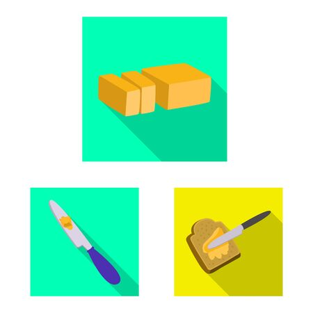 Vector design of creamy and product . Collection of creamy and farm stock symbol for web. Banco de Imagens - 129452437