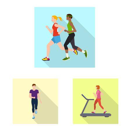 Vector illustration of sport and winner  . Collection of sport and fitness stock vector illustration.