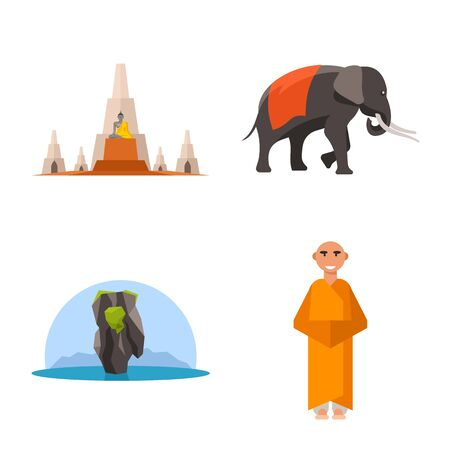 Vector design of thailand and travel sign. Collection of thailand and culture stock vector illustration.