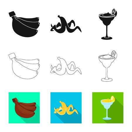 Vector illustration of natural and vegetarian sign. Collection of natural and eating vector icon for stock.