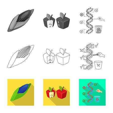 Vector design of test and synthetic . Collection of test and laboratory stock vector illustration.