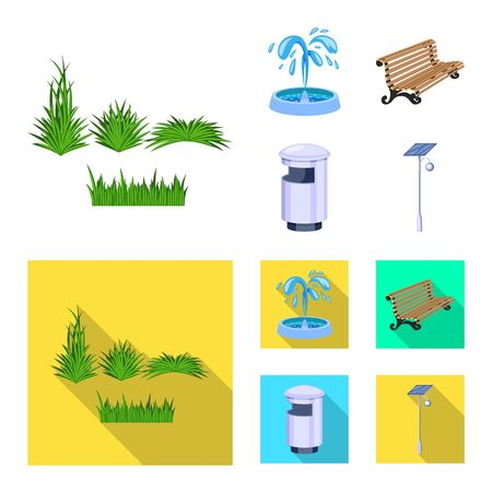Vector design of urban and street icon. Set of urban and relaxation stock vector illustration. 일러스트