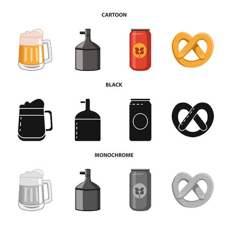 Vector illustration of brewery and brewing. Set of brewery and ingredient vector icon for stock. Imagens - 130013736