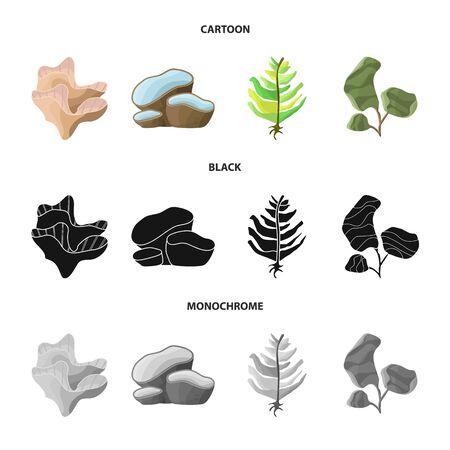 Vector illustration of biodiversity and nature symbol. Set of biodiversity and wildlife stock vector illustration. Illustration