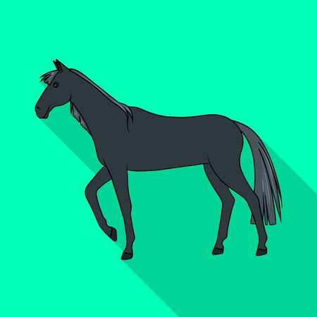 Isolated object of horse and black symbol. Collection of horse and horseback vector icon for stock.