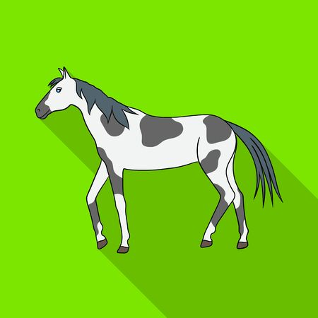 Vector design of horse and dapple sign. Set of horse and fauna stock symbol for web.