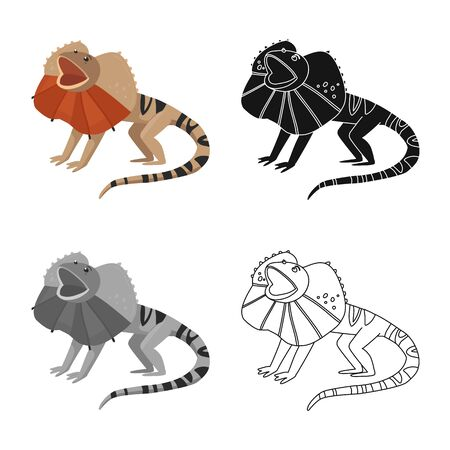 Isolated object of lizard and magical icon. Set of lizard and bright vector icon for stock. Ilustrace