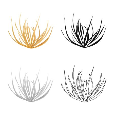 Vector design of tumbleweed and dry . Set of tumbleweed and botanical vector icon for stock.