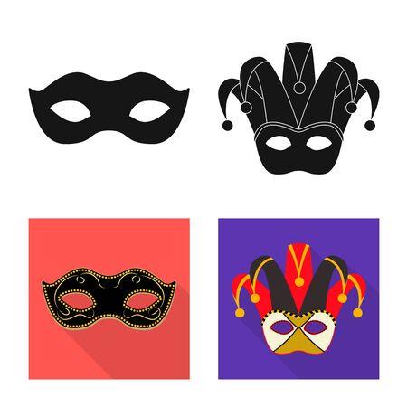 Vector design of luxury and celebration icon. Set of luxury and hide stock vector illustration.