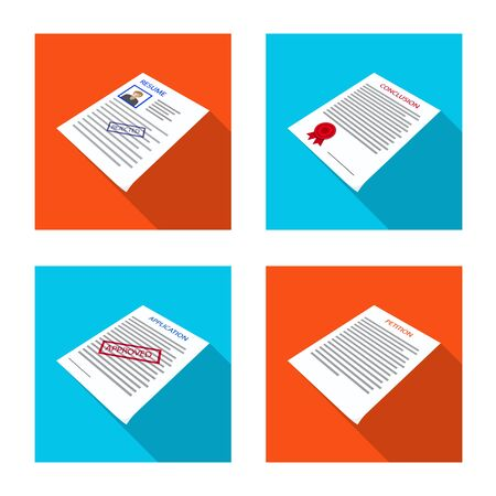 Vector design of company and advertise icon. Collection of company and placard stock symbol for web. Stok Fotoğraf - 129874107