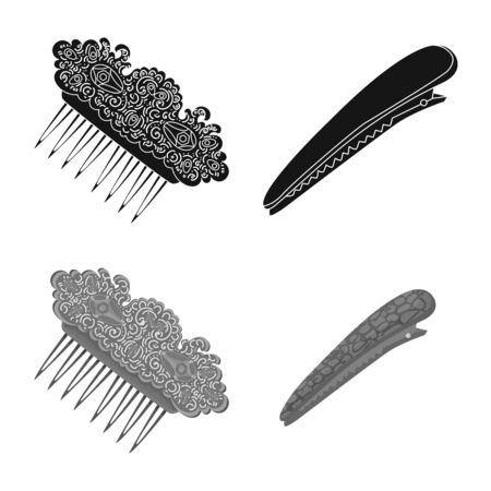 Isolated object of beauty and fashion. Collection of beauty and female vector icon for stock.