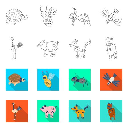 Isolated object of toy and science sign. Collection of toy and toy vector icon for stock. Stockfoto - 129874395