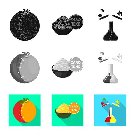 Isolated object of test and synthetic. Set of test and laboratory vector icon for stock.