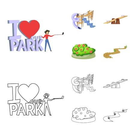 Isolated object of urban and street symbol. Collection of urban and relaxation stock symbol for web.