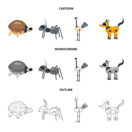 Vector illustration of toy and science icon. Collection of toy and toy stock vector illustration. Ilustracja