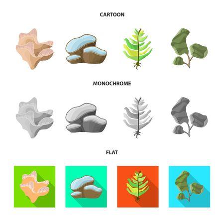 Vector design of biodiversity and nature icon. Set of biodiversity and wildlife stock vector illustration.