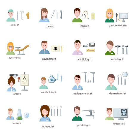 Isolated object of hospital and healthcare. Collection of hospital and health vector icon for stock.