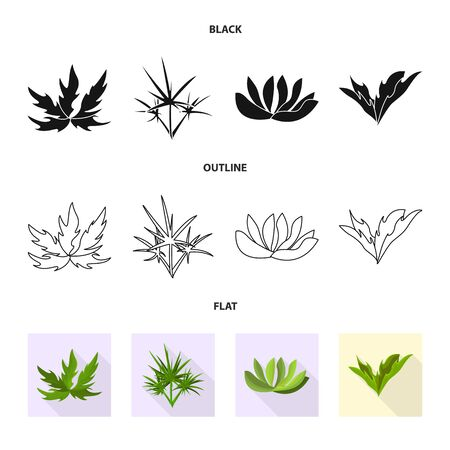 Isolated object of landscaping and summer symbol. Collection of landscaping and environment vector icon for stock.