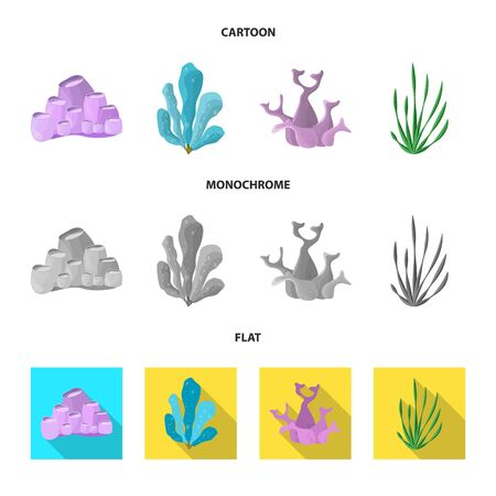 Vector design of biodiversity and nature. Collection of biodiversity and wildlife stock vector illustration.