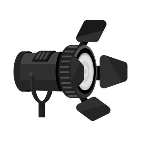 Isolated object of light and spotlight icon. Collection of light and transparent vector icon for stock. 일러스트