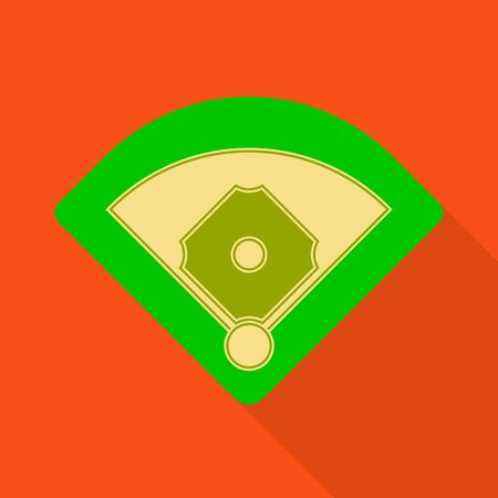 Vector design of baseball and stadium symbol. Set of baseball and base stock vector illustration. Banque d'images - 129846753