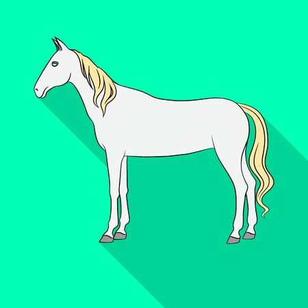 Isolated object of steed and white symbol. Set of steed and hoofed stock symbol for web. Çizim