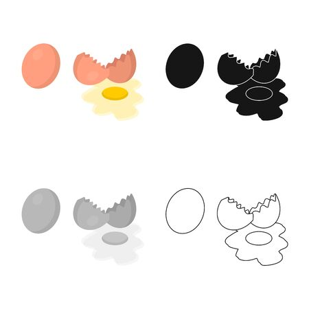 Vector illustration of egg and fresh. Collection of egg and diet stock vector illustration. Иллюстрация