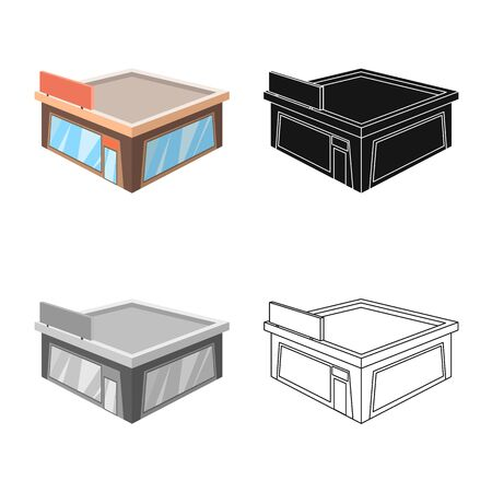 Vector design of shop and clothing