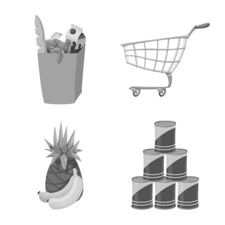 Isolated object of food and drink sign. Collection of food and store vector icon for stock.